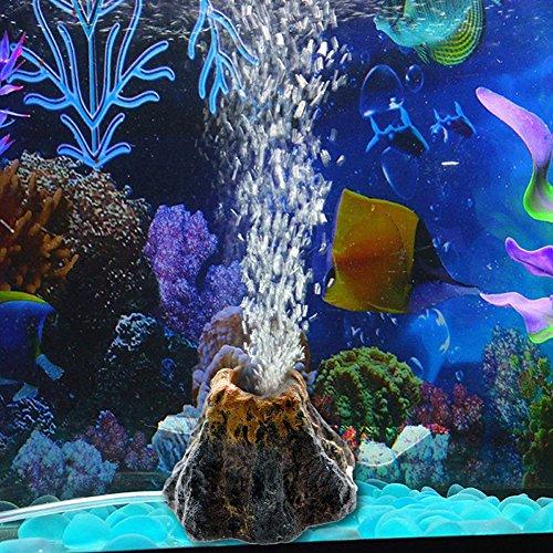 Demiawaking Aquarium Vulkan Form & Luftblase Stein Sauerstoff Pumpe Fisch Aquarium Dekor (Sauerstoff Stein)