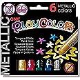 Playcolor Metallic one - Tempera sólida - 6 colores surtidos - 10321
