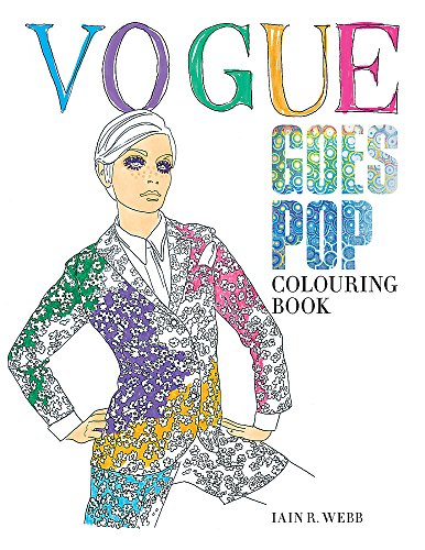 Vogue Goes Pop Colouring Book Cover Image