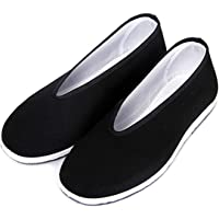 Chinese Traditional Old Beijing Shoes Unisex Martial Art Kung Fu Tai Chi Rubber Sole Shoes Black
