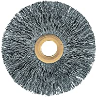 Carbon Steel Wire 1-3//8 Face Width 4500 Maximum RPM PFERD 81244 Wide Face Crimped Wheel Brush 2 Arbor Hole 8 Diameter 1-1//2 Trim Length 0.006 Wire Size