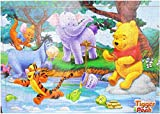 #1: Jenil International 204 Pcs Wooden Multi Cartoon Characters Wooden Frame For Kids (Tiger Pooh)