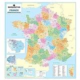 Carte de la France - Carte murale plastifiée...