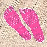 LaDicha Beach Invisible Überfall Foot Sohle Wasserdicht Schutz Socken Pad Wärmedämmung - M - Rosa