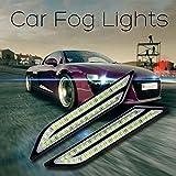 Calistouk lámparas niebla impermeable de coche DRL luces Diurna Coche Freno 2 pcs