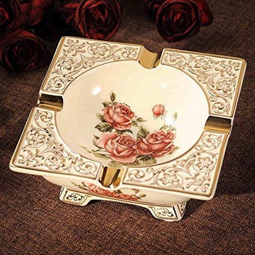 Dachui stile europeo posacenere ceramica grande soggiorno ufficio posacenere per sigari retrò moda creativa personalità regalo decorazione portable (colore : #1)