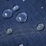 Gartentischdecke Lotus Effekt Oval 135x180 cm Blau - Farbe wählbar mit Fleckschutz - (LE_O135x180Blau)
