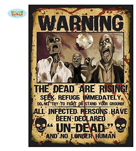 Halloween Schild Set Papier gruselig bedruckt 40 x 28 cm (Happy Gruseliges Banner Halloween)