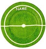 Unbekannt 1 Stück _ Teller -  Fußball - Spielfeld  - incl. Name - ø 19,5 cm - aus Porzellan / Keramik - Porzellanteller - Tennis Rugby Hockey / Erwachsene & Kindertel..