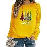 Sudadera Navidad Mujer Jersey Arbol Navideño Feo Sudaderas Navideñas Mujer Divertido Pullover Navidad Ugly Jerseys Navideños