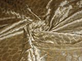 Seide Brokat Stoff Cremige Gold X blau Paisleys 111,8cm -