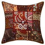 Kissen mit Bohemian Boho indischer, ethnischer Home Dekorative Indische Sofa-Kissen Deko-Kissen Sofa-Überwurf-Kissen, Kissenhülle Boho Bohemian, 16 x 16 cm