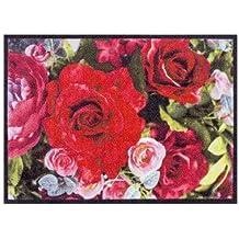 Free Fumatte Blumenstrau X Cm Gro Waschbar Fr Auen Innen Romantische Bunt Rutschfest Ohne With Teppich Rosen