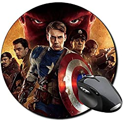 Capitan America Captain America Chris Evans A Alfombrilla Redonda Round Mousepad PC