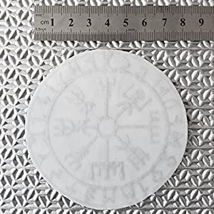 2AFTER1 Multicam Arid Vegvisir Viking Compass Norse Rune Heathen Tactical Morale Sew Iron on Patch