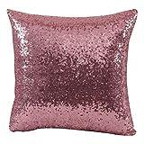 Kopfkissenbezug Pillowcase Einfarbig Glitter Pailletten Dekokissen Fall Cafe Home Decor