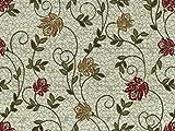 Landhausstil Möbelstoff Como Floral mit Fleckschutz Farbe creme (creme, weiß) - Flachgewebe (Floral, Ranke), Polsterstoff, Stoff, Bezugsstoff, Eckbank, Couch, Sessel, Hussen, Kissen