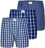 Lakeford & Sons Boxer 3-Pack Scacchi, colore: blu, taglia: L (2000-1623-L)