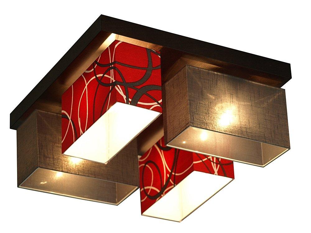 deckenlampe deckenleuchte leuchte vitoria 001 graphite rot. Black Bedroom Furniture Sets. Home Design Ideas