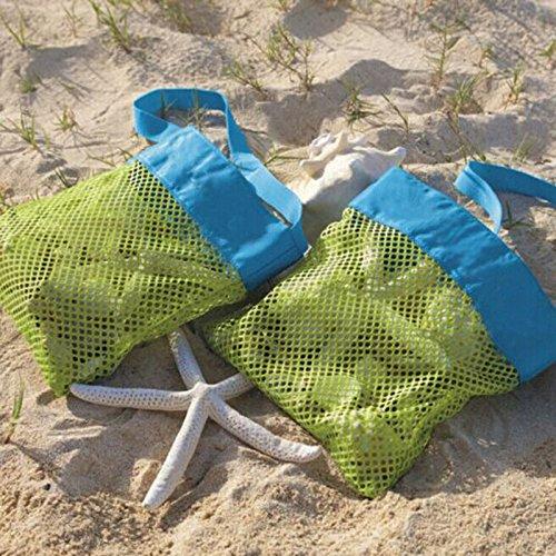 Sulifor Kinder Strandspielzeug erhalten Tasche Mesh Sandboxes Sandkasten Aufbewahrung Shell Net