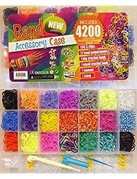 Loom Bands Starter Set Box 4200 oder 4400 mit Webrahmen (4200)