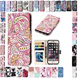 KM-Panda Housse Coque Apple iPhone 5 5S Se Fleur Cuir PU Wallet Cover TPU Silicone...