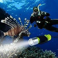 BlueFire 1100LM XM-L2 LED Professionelle Tauchen Taschenlampe, Helle Wasserdicht Sicherheit Unterwasser Lampe mit Handschlaufe