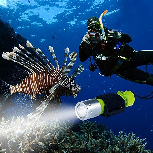 BlueFire 1100LM XM-L2 LED Professionelle Tauchen Taschenlampe , Helle Wasserdicht Sicherheit Unterwasser Lampe mit Handschlaufe