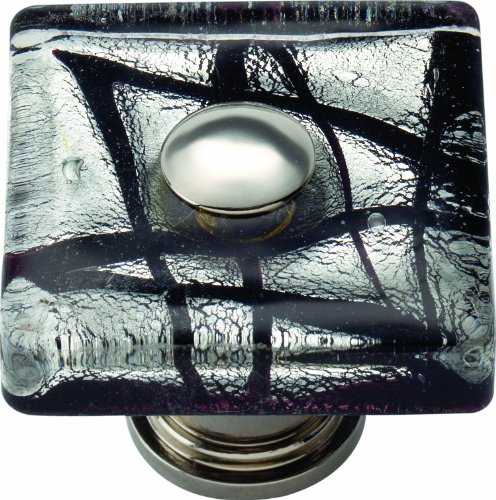 Eclipse Atlas (Atlas Homewares 3207-CH Glass Polished Chrome 1.5-Inch Eclipse Square Knob by Atlas Homewares)