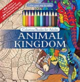 Best Color Pencil Sets For Adult Colorings - Animal Kingdom Adult Coloring Book Set With Colored Review
