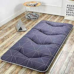HAOLY Japonés Espesar futón Tatami cojín colchón,Estera de meditación,Cojín de colchón,-Antideslizante para Dormir Almohada Plegable colchón-E 90x200cm(35x79inch)