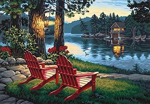 Peinture par numéro Kit 20 Â« X 14 »-Adirondack soirée