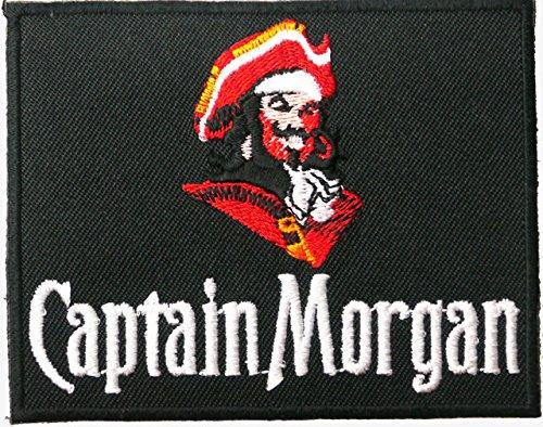captain-morgan-ecusson-brode-badge-patch-9-cm-x-7-cm-coudre-ou-thermocollant