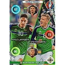 Panini Adrenalyn XL UEFA Euro 2016Nordirland Double Trouble–Lafferty und Davis