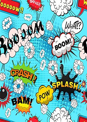 Comic Graffiti Wall Foto Hintergrund für Superheld Geburtstag Party Studio Event (Superhelden-foto)
