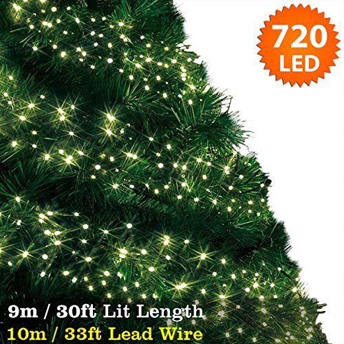 cluster lights 720 warm white led fairy lights 9m 30ft lit length multi