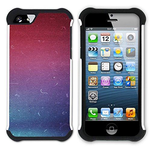 Graphic4You RED STRIPES Muster Hart + Weiche Kratzfeste Hülle Case Schale Tasche Schutzhülle für Apple iPhone SE / 5 / 5S Design #14