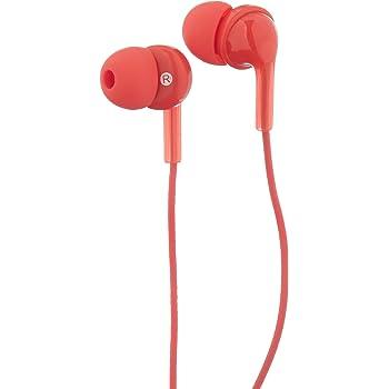 AmazonBasics, auricolari in-ear con microfono, Rosso