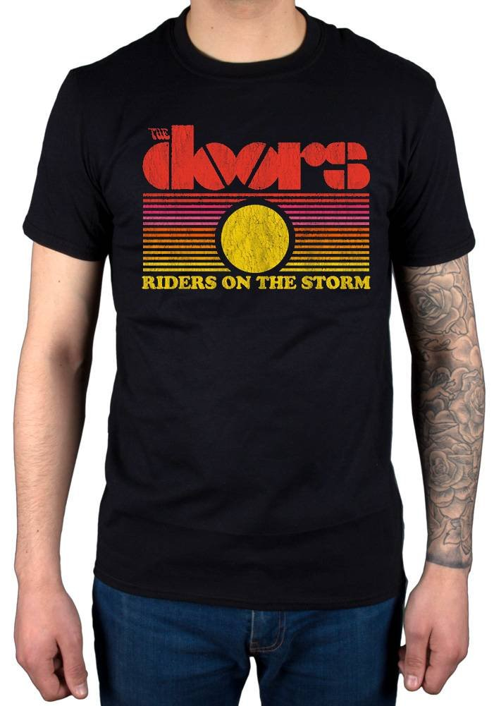 Official The Doors ROTS Sunset T-Shirt Band Standing LA Woman Other Voices Morrison Hotel
