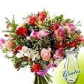Blumenstrauß Freesienglück mit Vase von FloraPrima bei Du und dein Garten