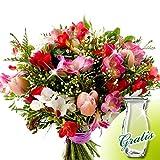 Blumenstrauß Freesienglück mit Vase