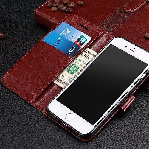 EKINHUI Case Cover iPhone Case 7 Plus, Case Cover Standup couverture motif de couleur solide portefeuille Type de boîtier Magnetic Design Flip Folio PU cuir pour iPhone 7 Plus ( Color : White , Size : Blue
