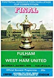 Fulham v West Ham United Football Programme - 1975 FA Cup Final played at Wembley (Saturday 3 May 1975)