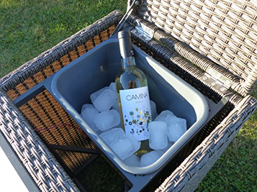 Large Armrest Drinks Cooler With Ice Bucket - Mocha