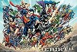 Póster DC Universe Rebirth - All Stars (91,5cm x 61cm) + 1 póster sorpresa de regalo