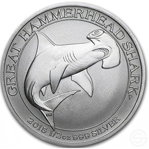 Australien Great Hammerhead Shark 2015 50 Cents 1/2 oz (15,55 GR.) Silber 999 Silver Coin Münze