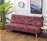 Cornasee Sofabezug 3 sitzer ohne armlehne - elastisch Schonbezug Sofahusse für Schlafsofa/Clic Clac