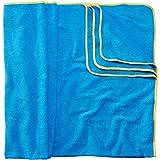 Sowel Strandtuch XXL aus 100% Baumwolle, Badetuch Badehandtuch Groß für Familie, Kinder und Paare, 160 x 200 cm, Blau/Gelb