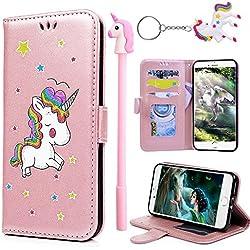 Funda para celular de unicornio rosa