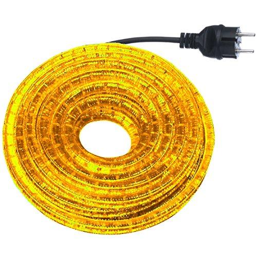 GEV 10543a Lichtschlauch-Set, Plastik, gelb, 900 x 1,3 x 1,3 cm